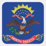 Bandera de Dakota del Norte Colcomanias Cuadradases