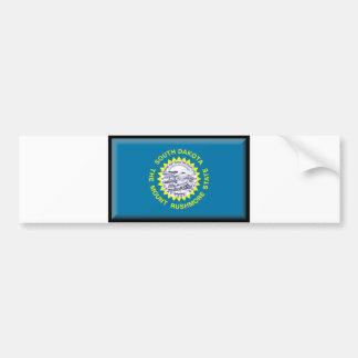 Bandera de Dakota del Sur Pegatina Para Auto