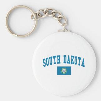 Bandera de Dakota del Sur Llaveros Personalizados