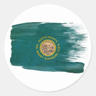 Bandera de Dakota del Sur Pegatina Redonda