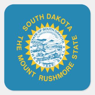Bandera de Dakota del Sur Pegatina Cuadrada
