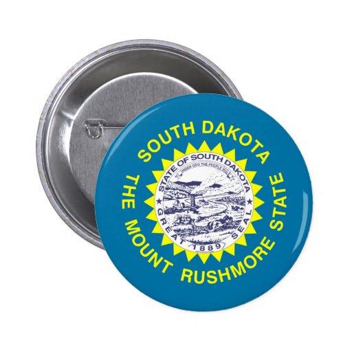 Bandera de Dakota del Sur Pin Redondo 5 Cm