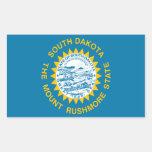 Bandera de Dakota del Sur Rectangular Pegatinas