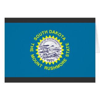 Bandera de Dakota del Sur Tarjeta De Felicitación