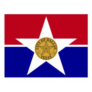Bandera de Dallas Tarjetas Postales