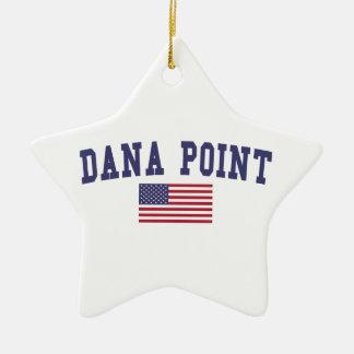 Bandera de Dana Point los E.E.U.U. Adorno Navideño De Cerámica En Forma De Estrella
