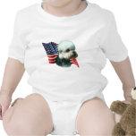 Bandera de Dandie Dinmont Terrier Trajes De Bebé