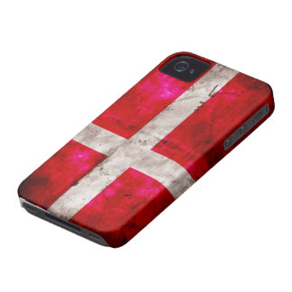 Bandera de Danmark Case-Mate iPhone 4 Cárcasa