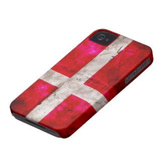 Bandera de Danmark Case-Mate iPhone 4 Protectores