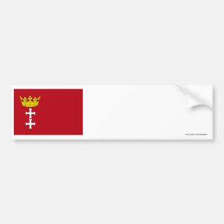 Bandera de Danzig - de Gdansk Pegatina De Parachoque