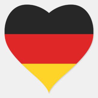 Bandera DE de Alemania Pegatina En Forma De Corazón