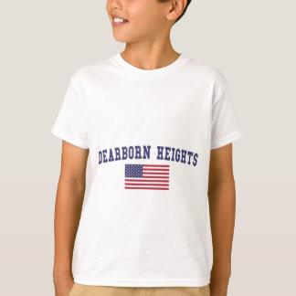 Bandera de Dearborn los E.E.U.U. Playera