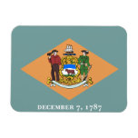 Bandera de Delaware Imanes Flexibles