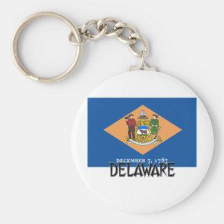Bandera de Delaware Llavero Redondo Tipo Pin