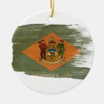 Bandera de Delaware Ornamentos De Reyes