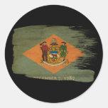 Bandera de Delaware Pegatina Redonda