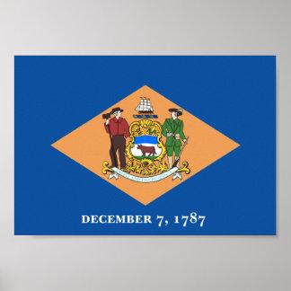 Bandera de Delaware Póster