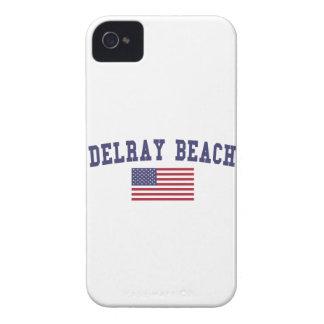 Bandera de Delray Beach los E.E.U.U. Carcasa Para iPhone 4