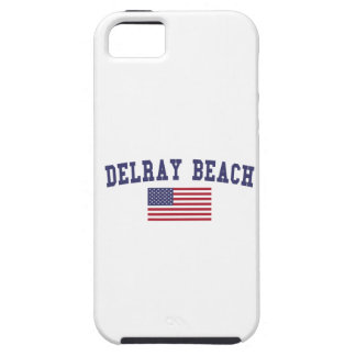 Bandera de Delray Beach los E.E.U.U. Funda Para iPhone SE/5/5s