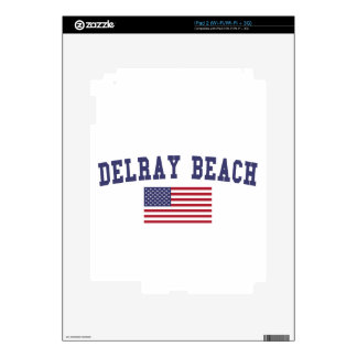 Bandera de Delray Beach los E.E.U.U. iPad 2 Skin