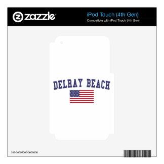 Bandera de Delray Beach los E.E.U.U. iPod Touch 4G Skin