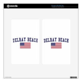 Bandera de Delray Beach los E.E.U.U. Kindle Fire Pegatinas Skins