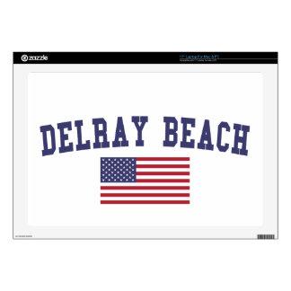 Bandera de Delray Beach los E.E.U.U. Portátil Calcomanía