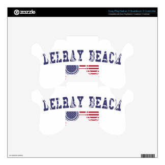 Bandera de Delray Beach los E.E.U.U. Skins Para Mandos PS3