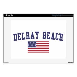 Bandera de Delray Beach los E.E.U.U. Skins Para Portátil