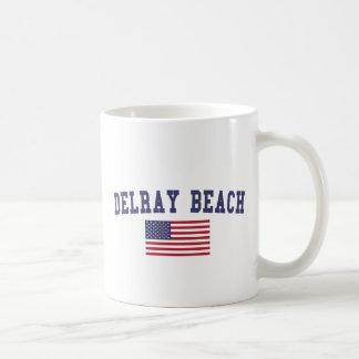 Bandera de Delray Beach los E.E.U.U. Taza