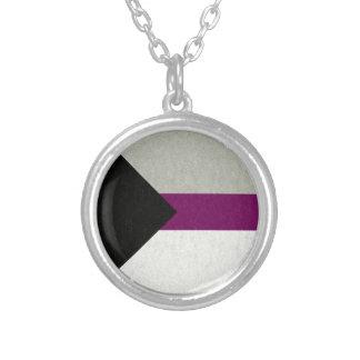 Bandera de Demisexual Collar Plateado