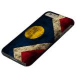 Bandera de Denver Colorado del Grunge del vintage Funda De iPhone 6 Plus Tough