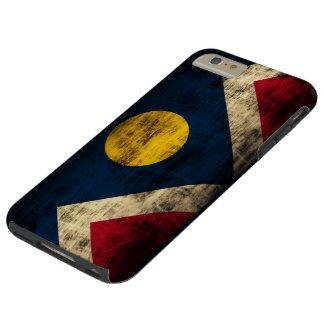 Bandera de Denver Colorado del Grunge del vintage Funda Para iPhone 6 Plus Tough