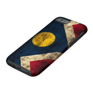 Bandera de Denver Colorado del Grunge del vintage Funda Para iPhone 6 Tough