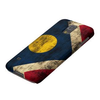 Bandera de Denver Colorado del Grunge Funda Para Galaxy S5