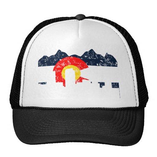 Bandera de Denver Colorado Gorras De Camionero