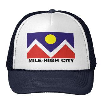 Bandera de Denver, Colorado Gorro De Camionero