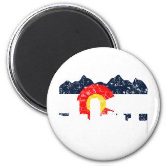 Bandera de Denver Colorado Imán Redondo 5 Cm