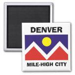 Bandera de Denver, Colorado Imán Cuadrado