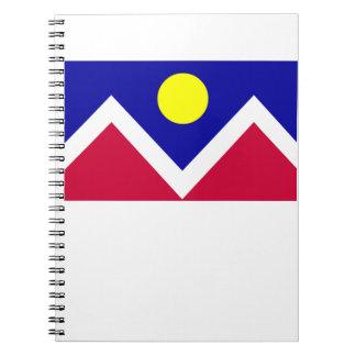Bandera de Denver Colorado Note Book