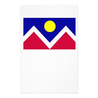 Bandera de Denver Colorado Papelería