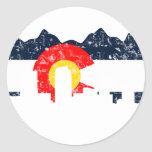 Bandera de Denver Colorado Pegatinas Redondas