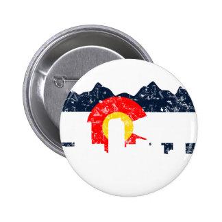 Bandera de Denver Colorado Pin Redondo 5 Cm