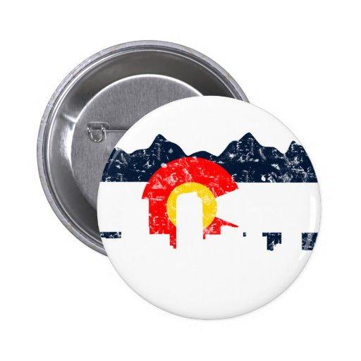 Bandera de Denver Colorado Pins