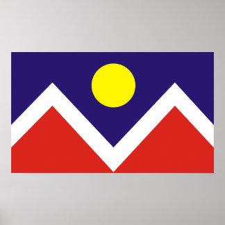 Bandera de Denver, Colorado Póster