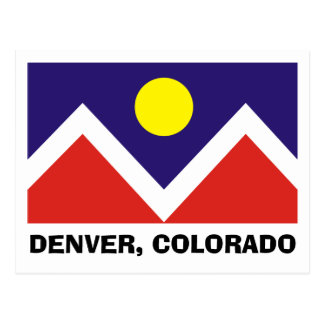 Bandera de Denver, Colorado Postales