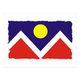 Bandera de Denver Colorado Tarjeta Postal