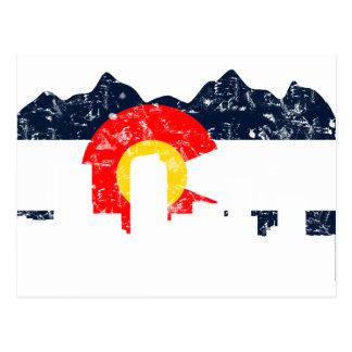 Bandera de Denver Colorado Tarjetas Postales