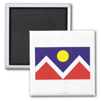 Bandera de Denver Imán Cuadrado