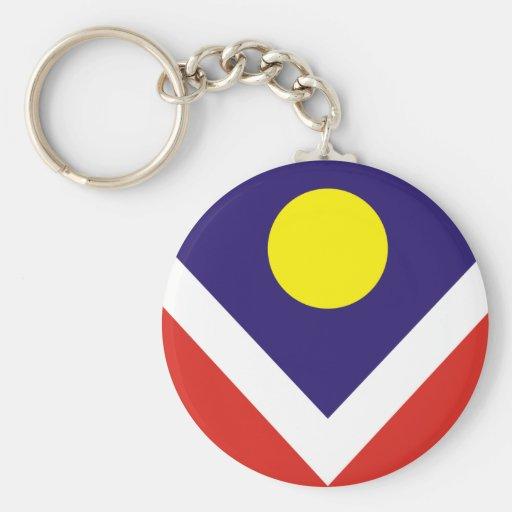 Bandera de Denver Llavero Personalizado